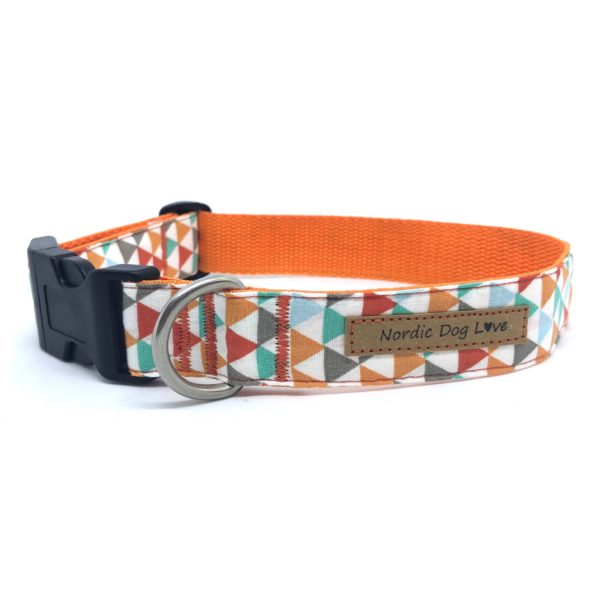 Hundehalsband Orange Trianlge